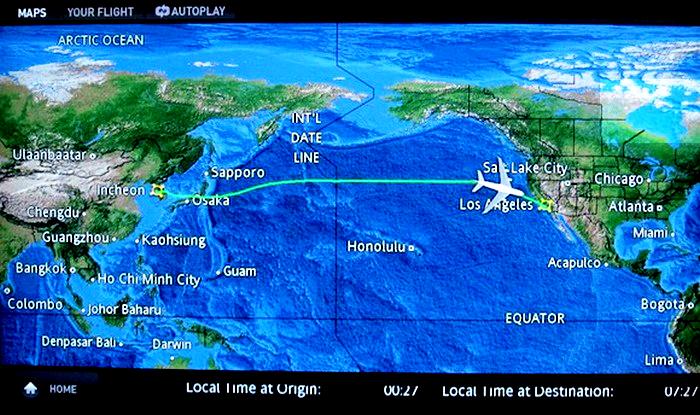 Bản đồ đường bay từ Việt Nam sang Mỹ 2