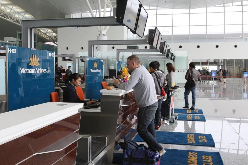 Check-in tại sân bay khi đi máy bay quốc tế