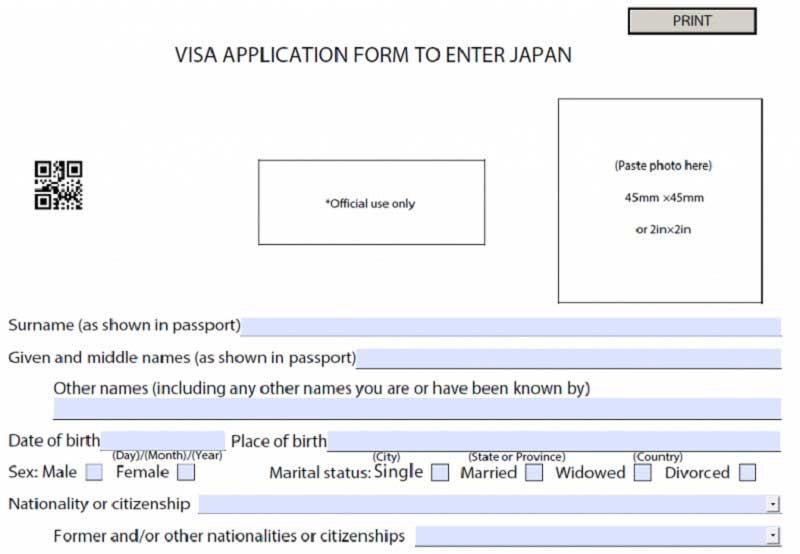Cách điền tờ khai visa